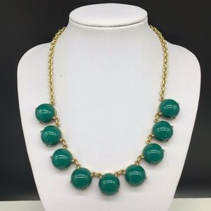 J CREW Teal Green Cabochon Necklace JCREW